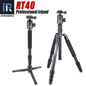 Image 1 - RT40 Professionelle Fotografische Reise Stativ Einbeinstativ Compact Aluminium Legierung Kamera Stehen für DSLR Hohe Qualität 164cm Max
