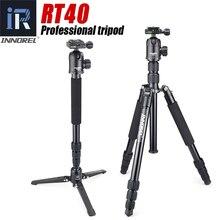RT40 מקצועי צילום נסיעות חצובה חדרגל קומפקטי אלומיניום סגסוגת מצלמה Stand עבור DSLR באיכות גבוהה 164cm מקסימום