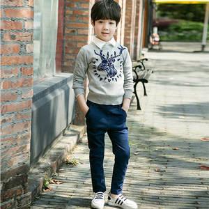 Image 5 - ילד ילד מכנסי קזואל סתיו וחורף ילד מכנסיים בתוספת קטיפה 2017 בגדי ילדים סתיו עיבוי ילד גדול מכנסיים