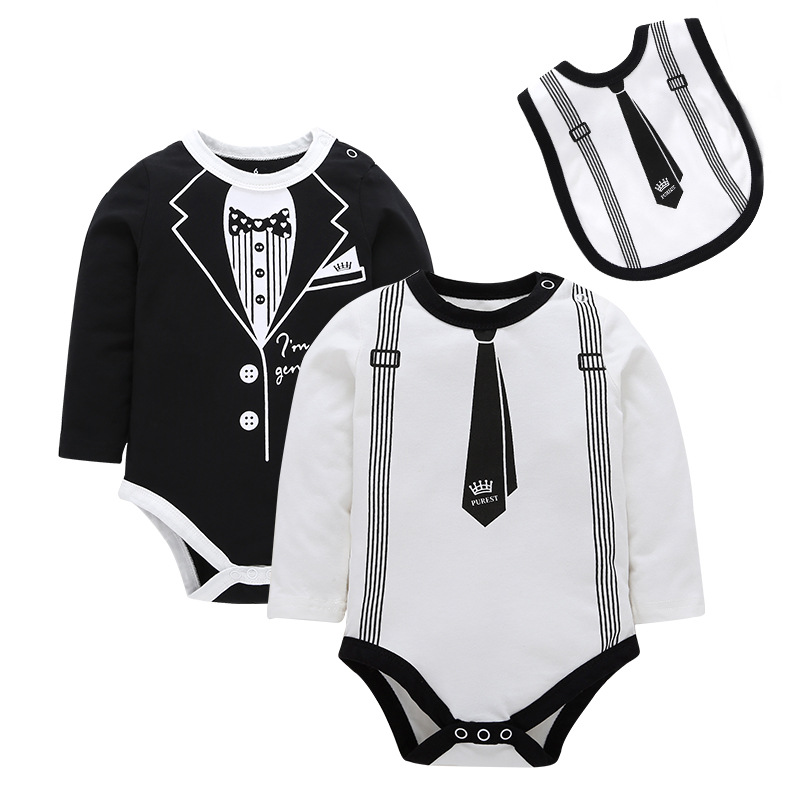 255ccb2a9f08 Newborn Baby Clothes Summer Long Sleeve Rompers Kids Bady Formal ...
