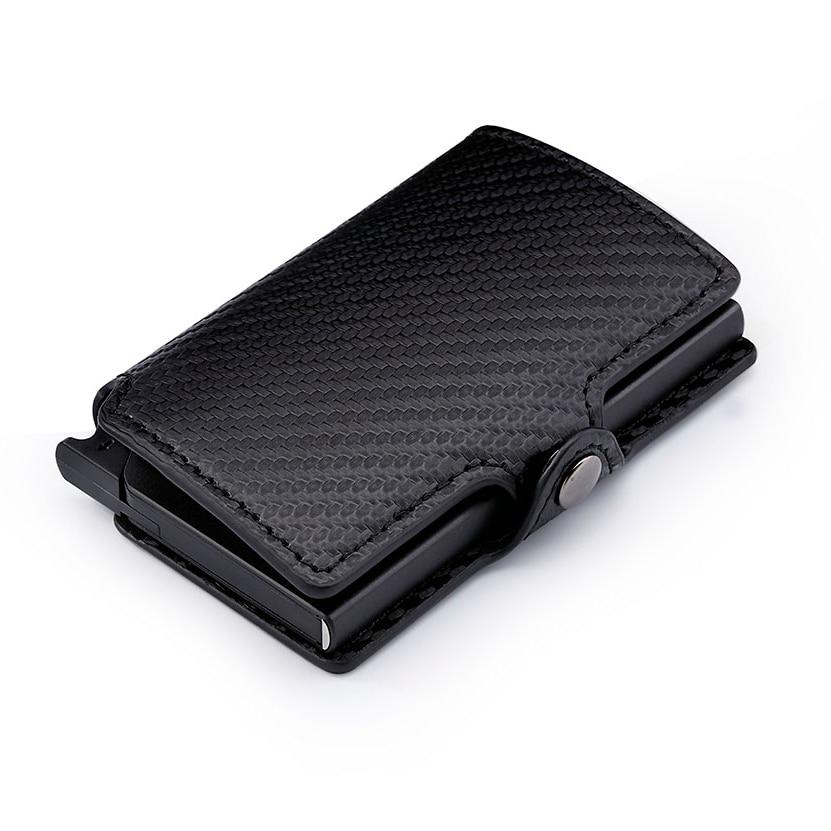 Casekey Rfid Wallet Pocket-Holder Credit-Card Business-Id Carbon-Fiber Slim Mini Luxury