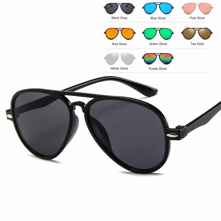 Children's Fashion Sunglasses Cartoon Pilot Sunglasses Aviation Sunglasses For Boys And Girls Rice Spike Eyewear UA400