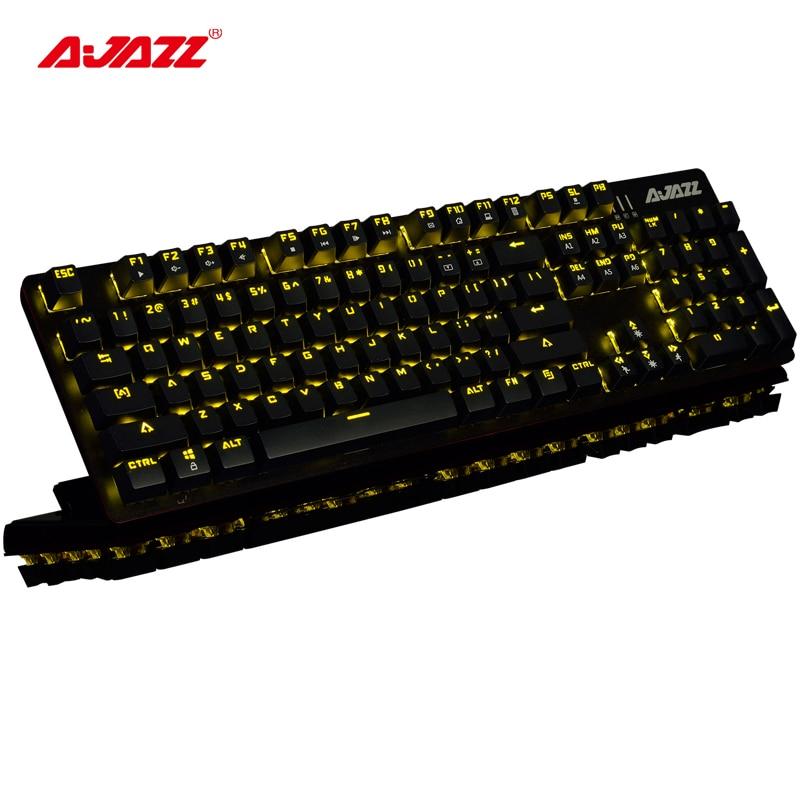 Ajazz ROBOCOP gaming keyboard mechanical backlit keyboard ergonomic anti-ghosting N-key rollover Brown/Black/Red/Blue Switches
