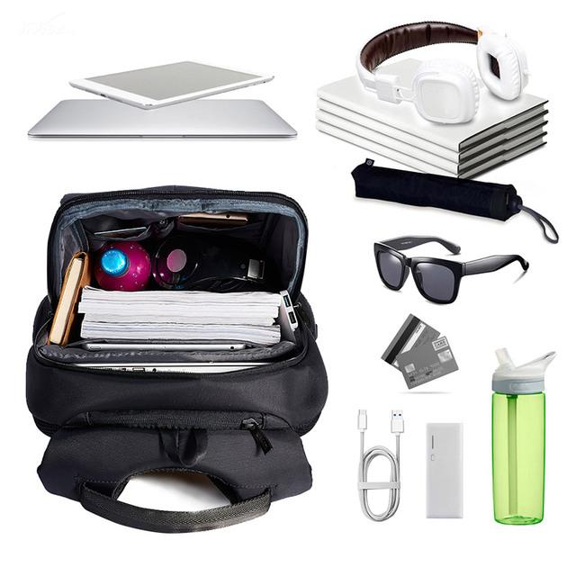 KALIDI Brand Waterproof Business Men Backpack Black Multifunction School Travel Unisex Women Laptop Backpack For 11 to 15.6 inch