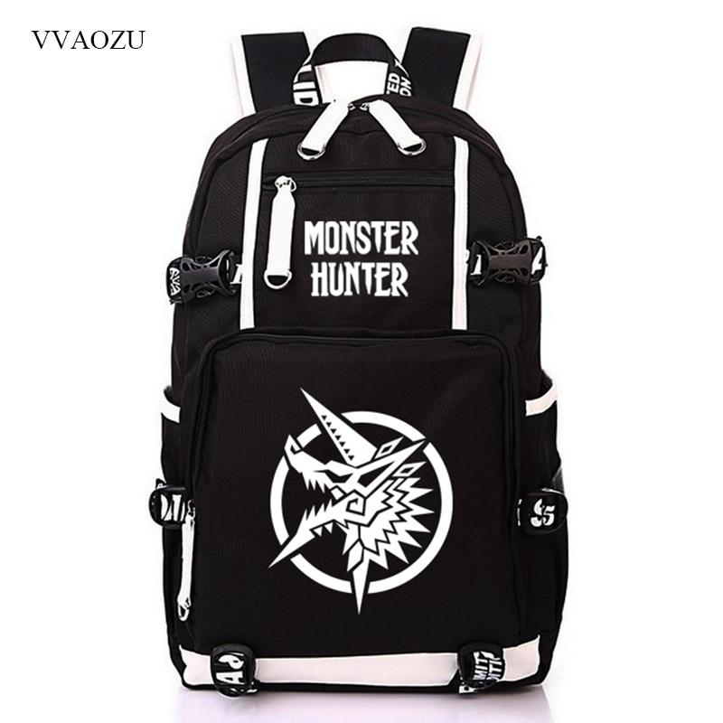 Monstre Hunter cartable sac de voyage à bandoulière sac à dos décontracté sac de voyage Bookbag Stachels sac à dos Mochila