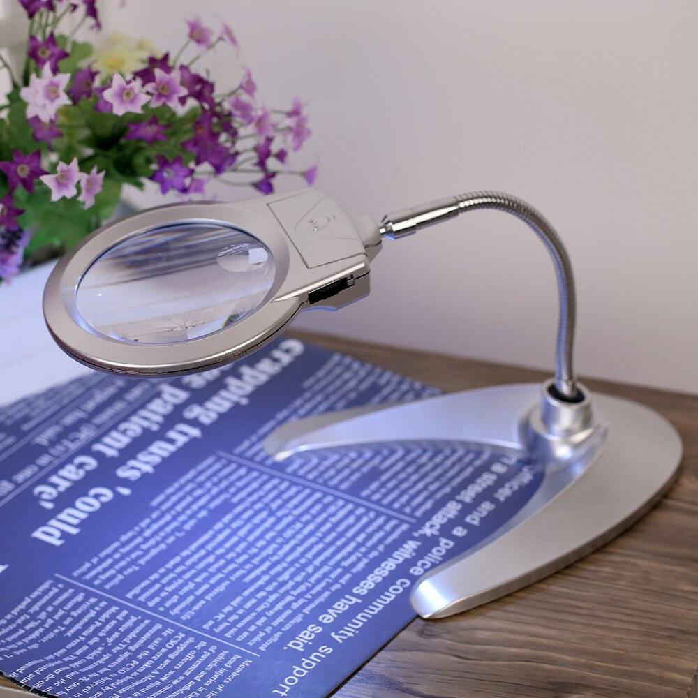 Desk Magnifying Glass : Magnifying glass multi functional desk magnifier lamp