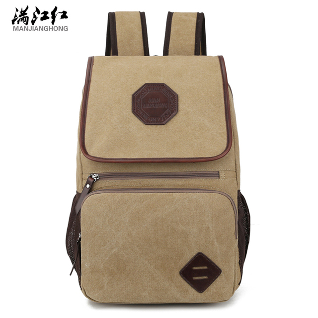 Manu0027s Canvas Backpack Outside Travel Bag Male Backpack Men Large Capacity  Rucksack Shoulder Student Bag Mochila
