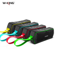 W-king S9 Bluetooth Speaker Outdoor IP65 Waterdichte Luidsprekers Mini BT4.0 Draadloze Stereo Subwoofer met 4000mAh Power Bank