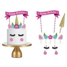 هدايا فتاة فتى طفل أطفال أطفال ألعاب تعليمية مضحكة لعبة تفاعليةكاليدكوب أعلام كعكة لطيف ورقة الديكور عيد ميلاد