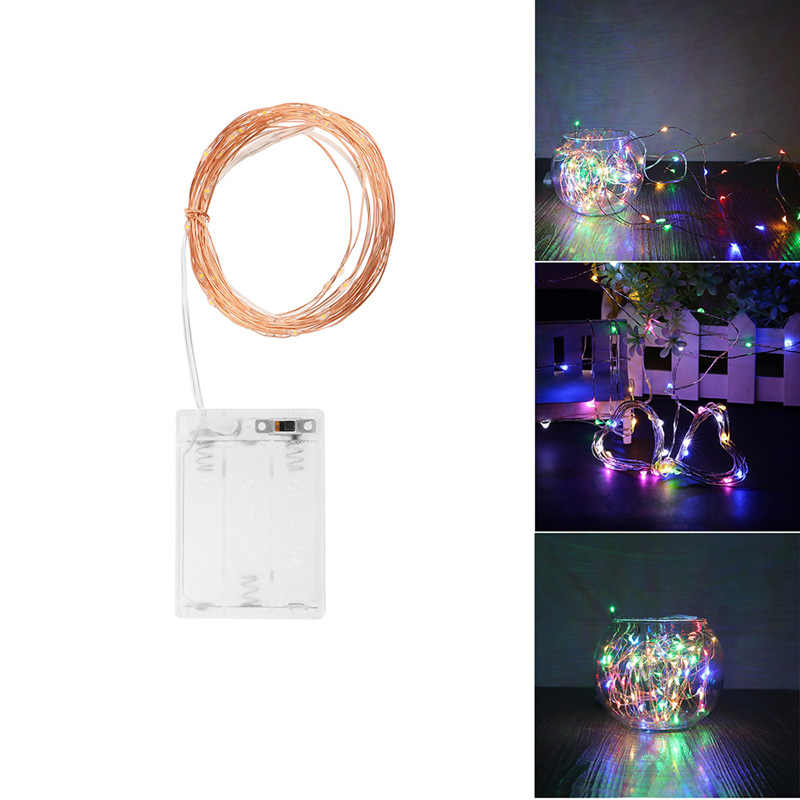 LemonBest 5M 50 LED 3XAA Battery LED Decoration Lights String Lamp for Xmas Garland Party Wedding Christmas Flasher Fairy Lights