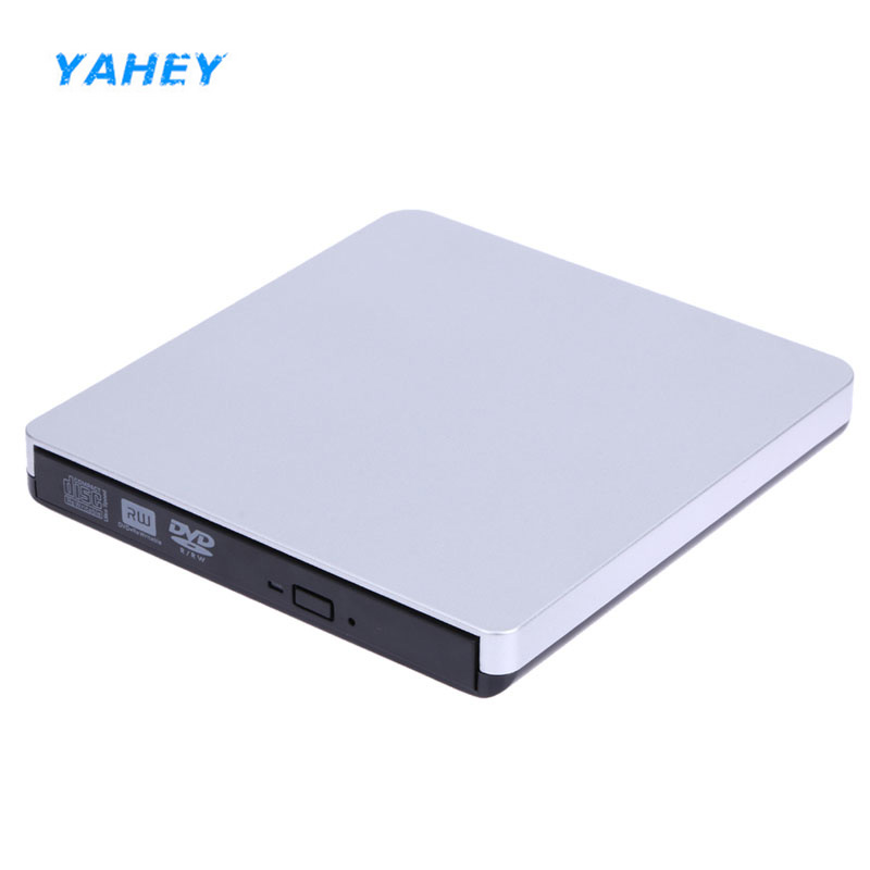 YAHEY External CD/DVD-ROM Player USB 3.0 DVD-RW Burner Writer Portable Optical Drive Superdrive for Apple Macbook Pro Air Laptop