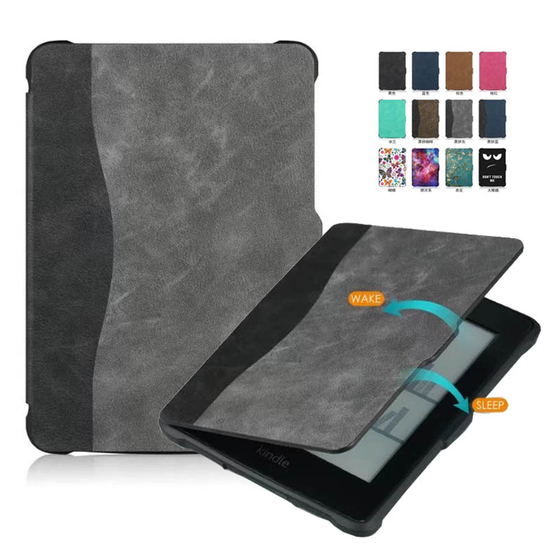 Paperwhite 1 2 3 Case E-book Cover TPU Rear shell + PU Leather Smart Case for Paperwhite 3 Cover 6