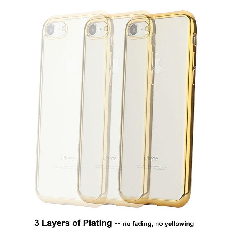 Plätering Transparent Mjukt TPU-fodral för iPhone 8 6 7 Fodral - Reservdelar och tillbehör för mobiltelefoner - Foto 5