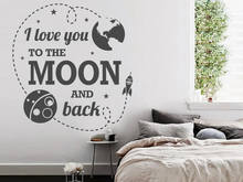 YOYOYU Vinyl wall stickers for kids room Moon Star Pattern Removeable Wall Decal Nursery BedroomWall Decor Room Decoration ZX262 цены