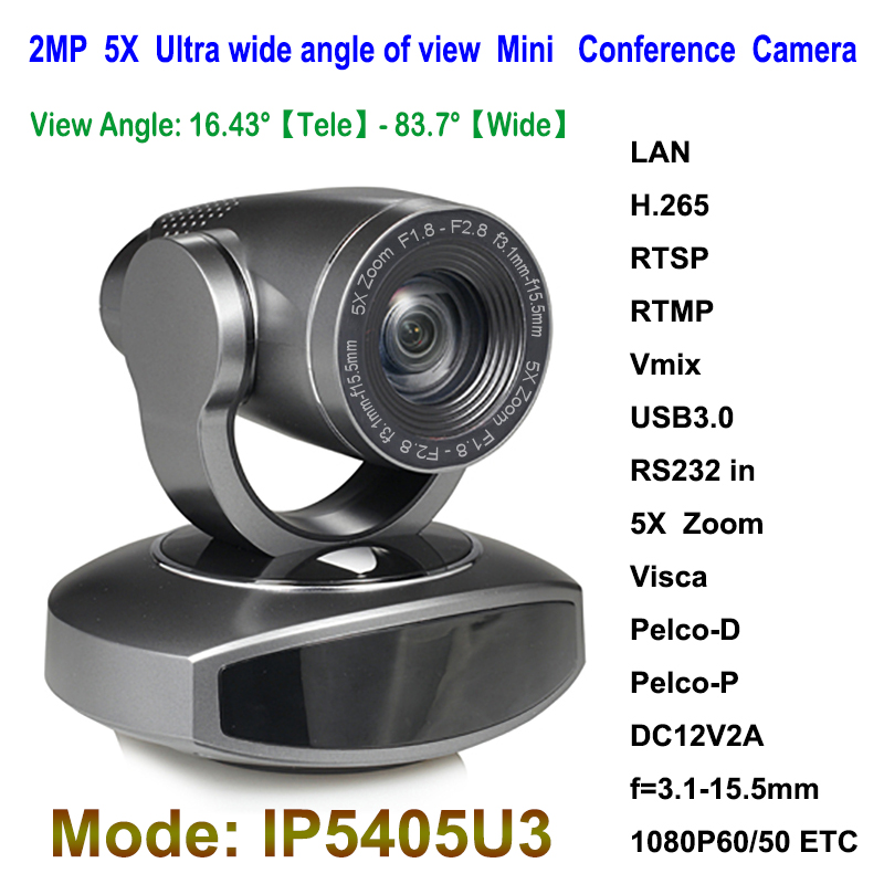 2.0 Megapixel USB3.0 IP Live Streaming Broadcast PTZ Camera for Video Audio Conferencing system image