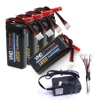 VHO 5pcs 7 4V 1200mAh Battery UL Charger 3 In 1 Cable For YiZhan Tarantula X6