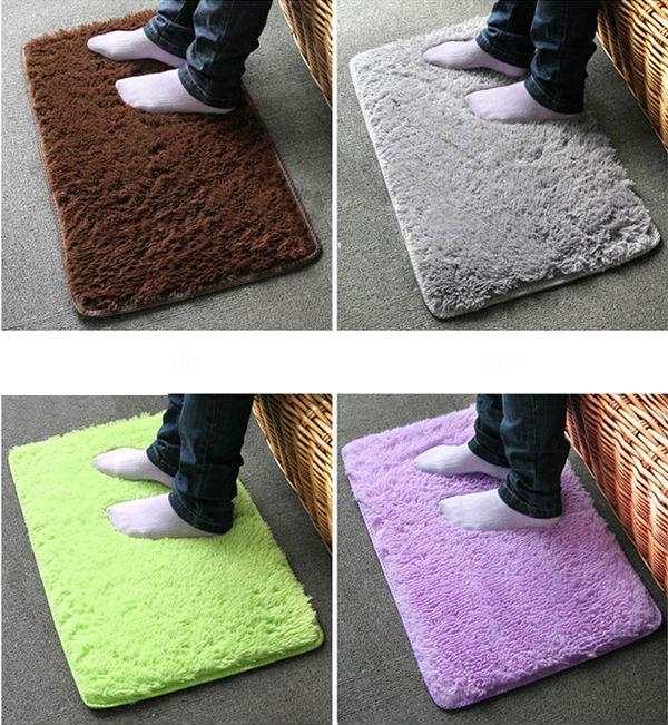 New Plush Velvet Slip Mats And Dust Doormat Absorbent Bathroom Floor Rug Washable Can Be