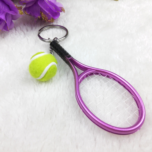 Handmade tennis Keychain metal car keys and popular small pendant hanging bag
