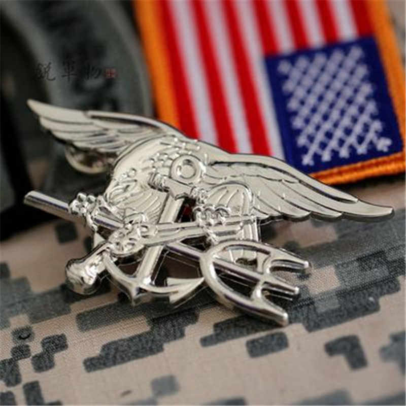 米海軍 Seal Eagle Anchor Trident ミニメダル制服記章バッジゴールドバッジ玩具