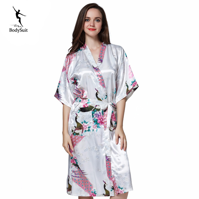 e5cd1491b8 Robe bridesmaid Robe Women Sleepwear nightwear Home Clothing Bathrobe Night dress  Gown sexy Sleepwear Nightgown Pyjamas Negligee