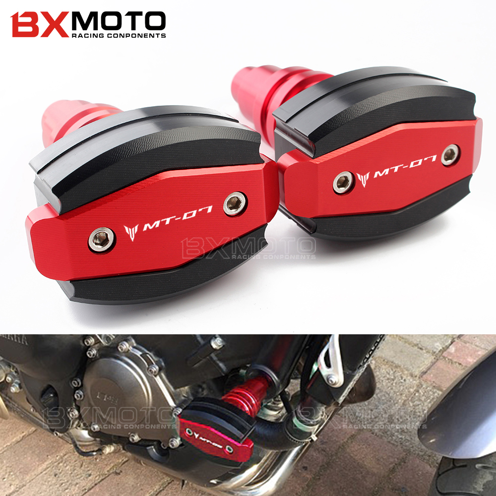 MT07 One Pair For Yamaha MT-07 MT 07 2015-2019 CNC engine Frame Sliders Crash Pad Cover Falling Protector Guard protection standMT07 One Pair For Yamaha MT-07 MT 07 2015-2019 CNC engine Frame Sliders Crash Pad Cover Falling Protector Guard protection stand