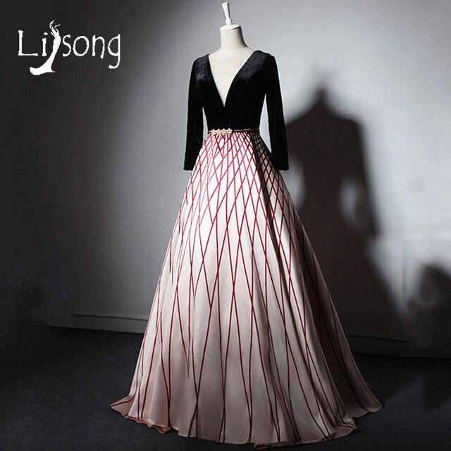 2018 Evening Dress Long Formal Gowns High End Deep V Women Vestido De Festa
