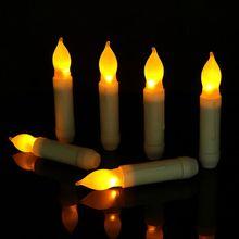 Беспламенный светодиодный Мерцающая Свеча Чай светильник на батарейках Свадебная вечеринка Декор