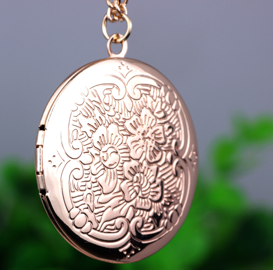 Peony Sunflower Pendant Necklace font b watch b font necklace can put photos open and close