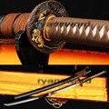 Ручная ковка дамасский черный сложенный стальной японский самурайский меч катана - фото