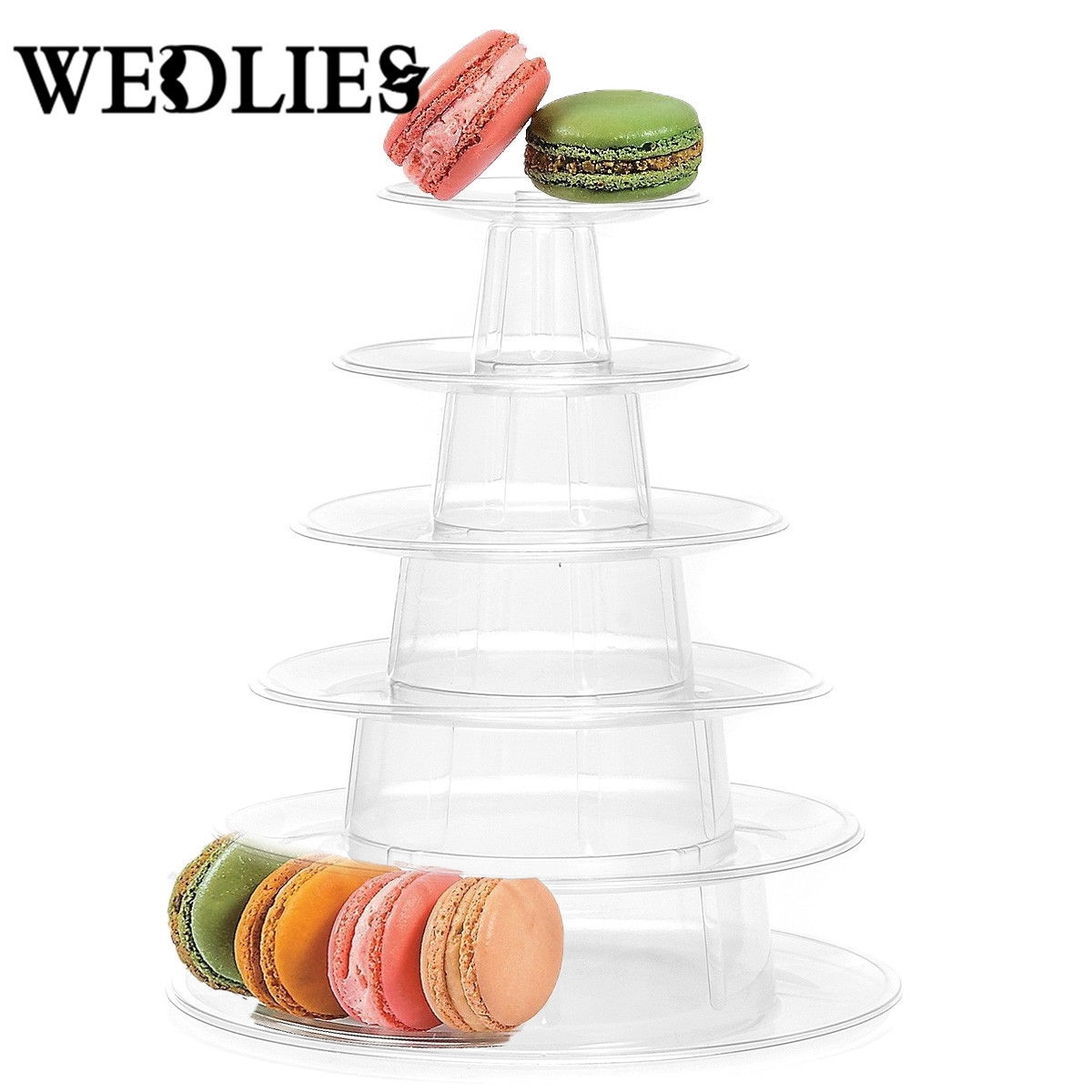 PVC 6 Tiers Macaron Tower Macaroon Stand Display Rack Baby Shower Birthday Party Cake Decorating Supplies Wedding Decoration