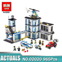 Lepin 965Pcs City Series The New Police Station Set Children Educational Building Blocks Bricks Boy Funny