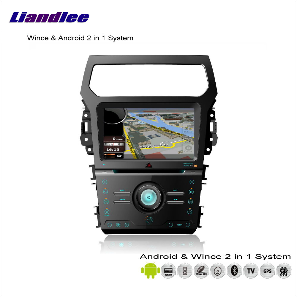 Liandlee For Ford Explorer 2011~2014 Car Radio CD DVD Player GPS Nav Navi Navigation Advanced Wince & Android 2 in 1 S160 System