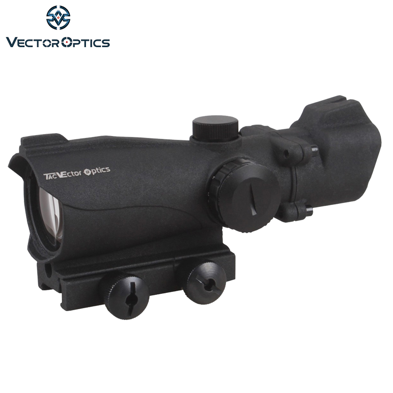 Vector Optics Tactical Condor 2x42 Green Red Dot Scope Weapon Sight with Front Iron Sight 2 Times Magnification vector optics mini 1x20 tactical 3 moa red dot scope holographic sight with quick release mount fit for ak 47 7 62 ar 15 5 56