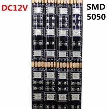 DC12V LED Strip 5050SMD 60LEDs M Black PCB Board Flexible LED Light Waterproof RGB 5050 LED