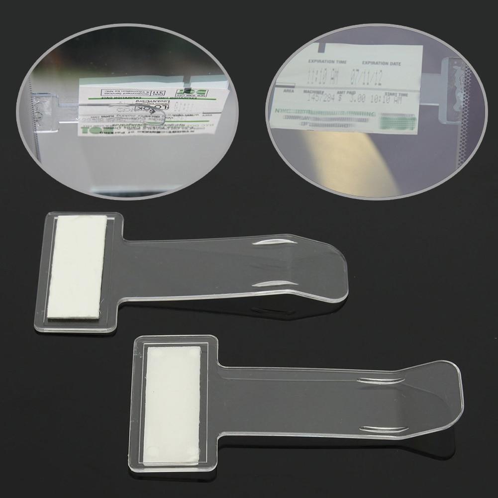 1Pc Car Vehicle Accessory Parking Ticket Permit Card Ticket Holder Clip Sticker Windscreen Window Fastener Stickers Kit