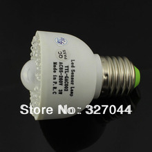 Free shipping 85V--265V E27 54 LED PIR Motion led Sensor Light Lamp Bulb 300lumen 10pcs/lot(China)