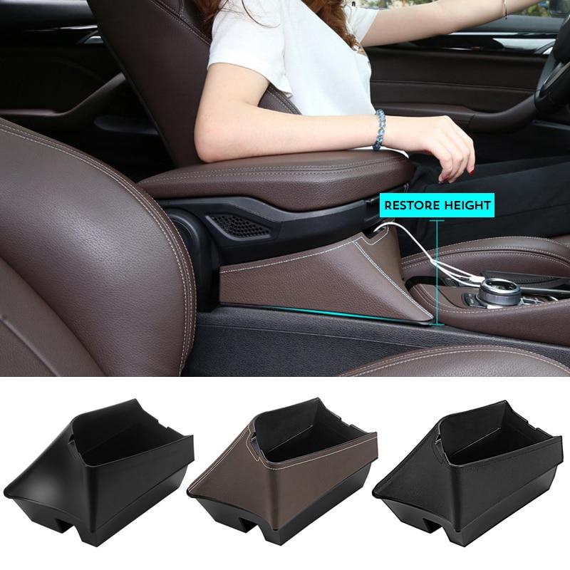 Pour BMW X1 F48 2016 2017 LHD haut ABS plastique noir accoudoir boîte Console centrale stockage conteneur organisateur plateau support pour téléphone