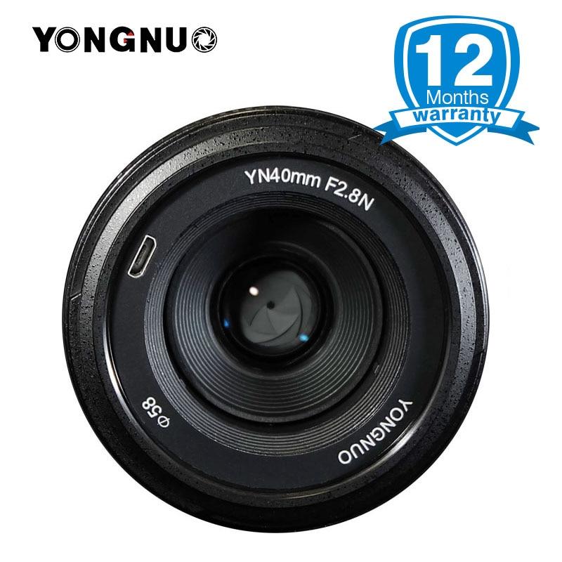 2017 YONGNUO YN40mm F2.8N Lens for Nikon,AF/MF Focus/USB Port Update Firmware/Metal Mount Lentes for Nikon D7200 D5300 D750 DSLR meike mk d750 battery grip pack for nikon d750 dslr camera replacement mb d16 as en el15 battery