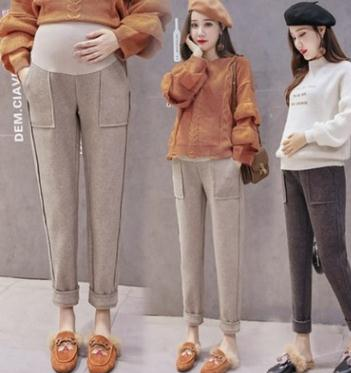 8aeacb36db2d3 Woolen Maternity Pants 2019 Autumn Winter Maternity Clothes New Thicken  Harem Pants Fashion Trousers for Pregnant Women SH-3077 - aliexpress.com -  imall.com