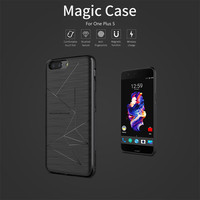 10pcs Lot Wholesale NILLKIN Magic Case For Oneplus 5 QI Wireless Charging Standard Receiver Case Cover