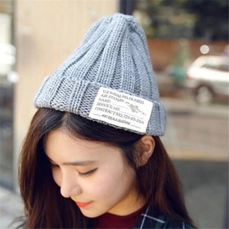 Letter US Hat Casual Beanie Hot Sale Winter Warm Fashion Lovers 2 Colors Knitting Hats High Quality Warm Men Women Autumn Winter rwby letter hot sale wool beanie female winter hat men