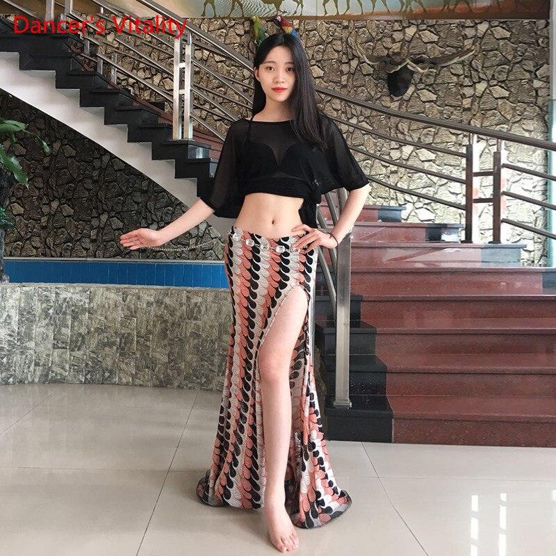 Women Professional Belly Dance Modal Net Yarn Top/ Lace Long Skirt   Belly Dance For Girls Latin Dance Top Or Skirt