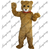 2018 New Hot Sale Yellow Cat Mascot Costume Adult Size Halloween Outfit Fancy Dress Suit Free Shipping