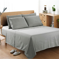 4PCS Solid Egyptian Comfort 1800 Count 4 Piece Bed Sheet Set Deep Pocket Bed Sheets