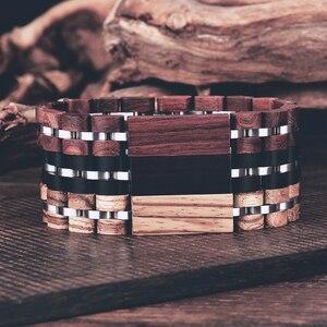 Image 3 - BOBO BIRD Wood Bracelet For Women Free Engraved name Men Bracelet Stainless Steel Bangle Anniversary Gift for Him pulseras mujer