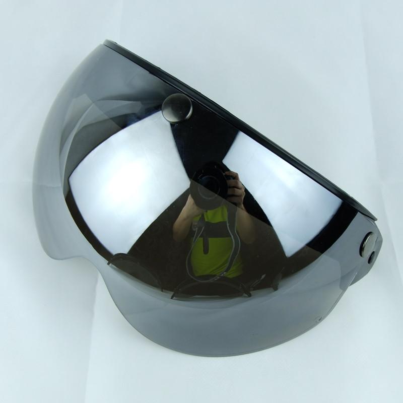 Prix pour 3 snap vintage MOTO casque visière bouclier 3/4 open face rétro harley casque pare teinte ensoleillé bouclier pour casco moto casque
