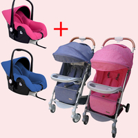 Twins baby stroller send two car seats newborn twin stroller travel system send car seat and free gift light baby pram