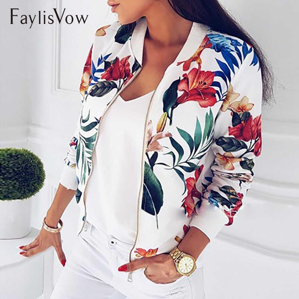 f8ec3403fb4 4XL 5XL большой Размеры Для женщин короткая куртка с цветным Ретро принтом  с длинным рукавом на