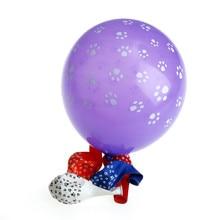 10PCS 12 Inch White Dog Footprints Latex Balloons Animal Theme Wedding Decoration