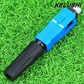 KELUSHI FTTH 10 pcs single/multi mode SC UPC fibra óptica rápida conector de frio para a comunicação digital Conector de Engate Rápido